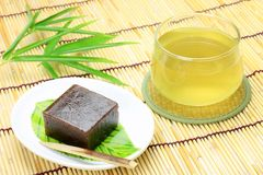 Japanese sweet and green tea Royalty Free Stock Image
