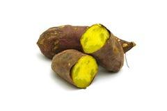 Japanese sweet potato isolated on white background Royalty Free Stock Photos