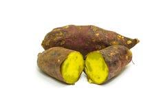 Japanese sweet potato isolated on white background Stock Photo