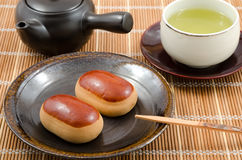 Japanese sweetened chestnuts bun Stock Images