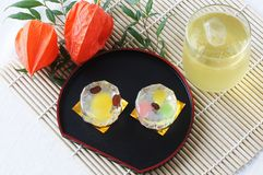 Japanese sweets. For Bon festival Stock Photo