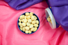 Japanese sweets beans. With colored sugar coat Royalty Free Stock Photos