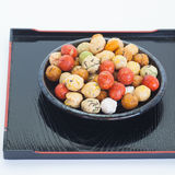 Japanese sweets beans with colored sugar coat Royalty Free Stock Photo