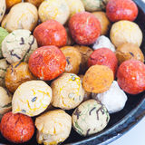 Japanese sweets beans with colored sugar coat Royalty Free Stock Photography
