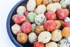 Japanese sweets beans with colored sugar coat Stock Photography