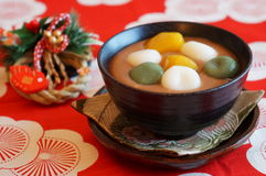 Japanese sweets for New Year's Day Stock Photo