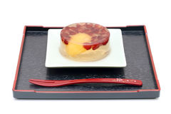 Japanese sweets on plate Royalty Free Stock Photography