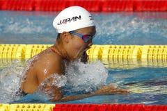 Japanese swimmer Kanako Watanabe Stock Images