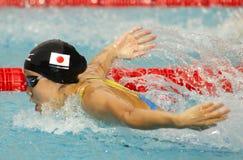 Japanese swimmer Natsumi Hoshi Royalty Free Stock Photos