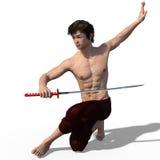 Japanese sword fencer  Stock Photo