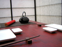 Japanese table Royalty Free Stock Photography