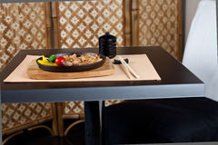 Japanese table place setting. Ready for dinner Royalty Free Stock Photography