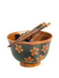 Japanese tableware. Chopsticks and bowl Royalty Free Stock Photos