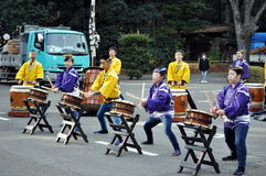 Japanese Taiko Drummers in Tokyo Japan Royalty Free Stock Photo