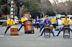 Japanese Taiko Drummers in Tokyo Japan Stock Photos