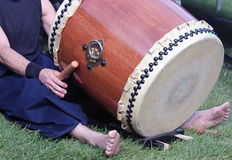 Japanese Taiko Drumming Stock Photography