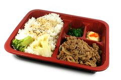 Japanese Take Out Meal Set Stock Photos