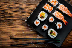 Japanese tasty sushi set Stock Photography