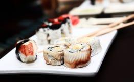 Japanese tasty sushi set Stock Images