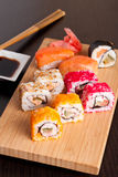 Japanese tasty sushi set. Vertical, close up Stock Photo