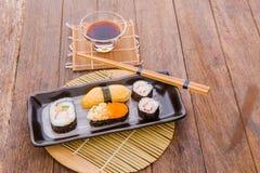 Japanese tasty sushi set Stock Photo