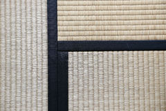 Japanese Tatami Rug Background with three Tatamis Joining Royalty Free Stock Photo