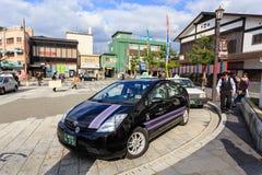 Japanese taxi at Dazaifu Station Royalty Free Stock Photography