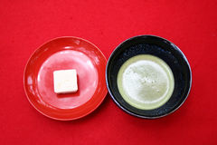 Japanese Tea. And sweet Stock Images