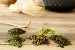 Japanese tea assortment Royalty Free Stock Images
