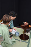 Japanese tea ceremony. AUCKLAND - APR 10 2016:Japanese tea ceremony. The Way of Tea, is a Japanese cultural activity involving the ceremonial preparation and Stock Images