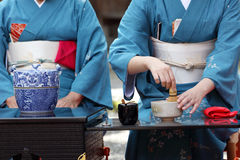 Japanese tea ceremony Stock Photos
