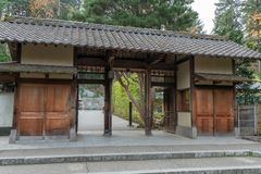 Japanese Tea Garden entrance royalty free stock image
