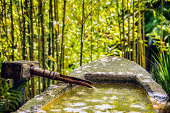Japanese tea Garden. Fountain in Japanese tea Garden in San Francisco, California stock images