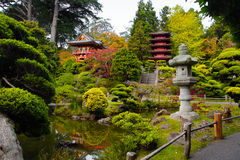 Japanese Tea Garden. Pagodas in Japanese Tea Garden, San Francisco, California, USA royalty free stock images