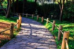 Japanese Tea Garden San Francisco. Garden pathway inside the Japanese tea Gardens in San Francisco California Royalty Free Stock Photo