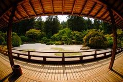 Japanese Tea House. The deck of a Japanese tea house Stock Photos