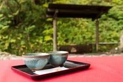 Japanese tea house. Beautiful sightseeing scenery landscape Stock Photos