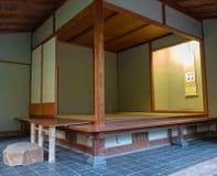Japanese tea house. Portland, Oregon - 2018-11-20 - Japanese tea house at the Japanese Tea Garden in portland royalty free stock photo