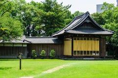 Japanese tea house. Suizenji kumamoto royalty free stock image