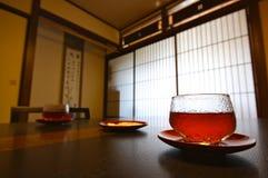 Japanese Tea, Japan. Japanese tea served in a typical ryokan, Japan royalty free stock photos