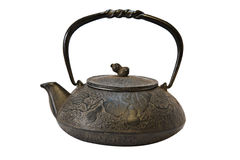Japanese Tea Kettle. Isolated Royalty Free Stock Photo