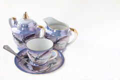 Japanese Tea Set. Placed on white Background Stock Photography