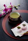 Japanese tea time Royalty Free Stock Photos