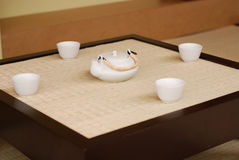 Japanese Teahouse. Close shot of a traditional japanese tea set Royalty Free Stock Images