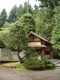 Japanese teahouse in Japanese garden Royalty Free Stock Photos