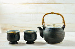Japanese Teapot and cup Royalty Free Stock Photo