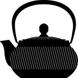Japanese teapot flat icon illustration vector solid color. An icon for tea and coffee time, including snacks like biscuits and some other elements for tea time Royalty Free Stock Image