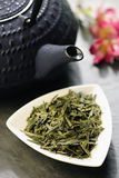 Japanese teapot and green tea Royalty Free Stock Photography