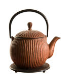 Japanese teapot (tetsubin) Royalty Free Stock Images