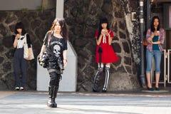 Japanese teenage fashion styles stock photo